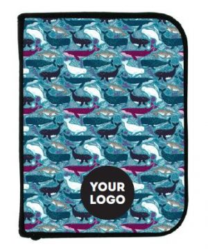 3-Ring Binder Log book - Whales w/Insert