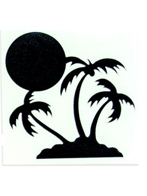 In Bloom Die Cut Sticker - Sunset Palm #011