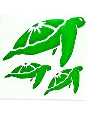 In Bloom Die Cut Sticker - Three Turtle #004