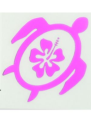 In Bloom Die Cut Sticker - Turtle with Hibiscus #039