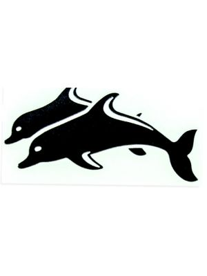 In Bloom Die Cut Sticker - Twin Dolphins #737