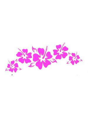 In Bloom Die Cut Sticker - Hibiscus Strip #900