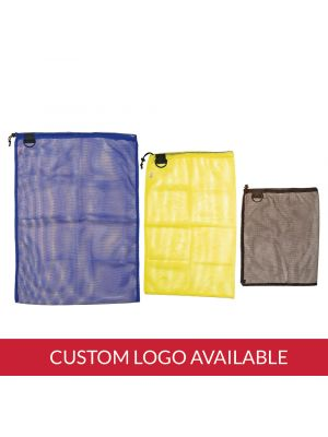 Econo Mesh Drawstring Bag with D-Ring with Imprint