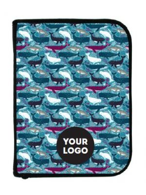 3-Ring Binder Log book - Whales w/Imprint and insert